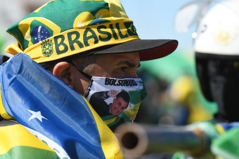 MANIFESTAÇÕES A FAVOR E CONTRA O PRESIDENTE DO BRASIL, JAIR BOLSONARO, EM BRASÍLIA, DF